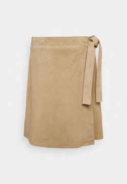 Selected Femme - SLFMARIA WRAP SKIRT - Mini skirt - curds & whey