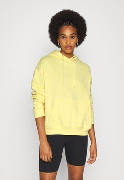 Even&Odd - BASIC OVERSIZED HOODIE WITH POCKET - Sweat à capuche - light yellow