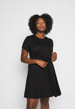Simply Be - TIE WAIST DRESS - Jerseykleid - black