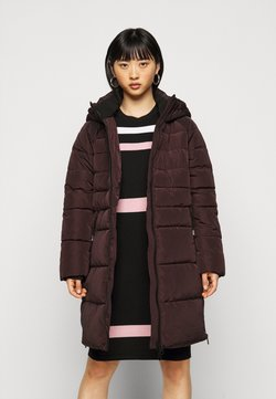 Vero Moda Petite - VMBERGEN JACKET - Abrigo de invierno - chocolate plum