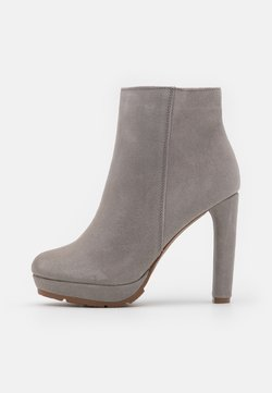 Anna Field - LEATHER - High Heel Stiefelette - grey