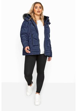 Yours Clothing - Down coat - blue