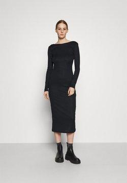 NA-KD - DEEP BACK MIDI DRESS - Vestido de tubo - black