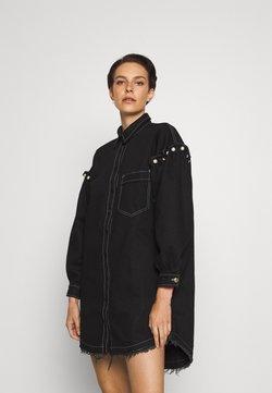 Mother of Pearl - SHIRT DRESS WITH PEARL SHOULDER - Korte jurk - black