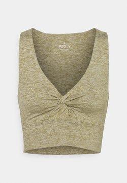 Cotton On Body - SO PEACHY TWIST FRONT VESTLETTE - Top - oregano marle