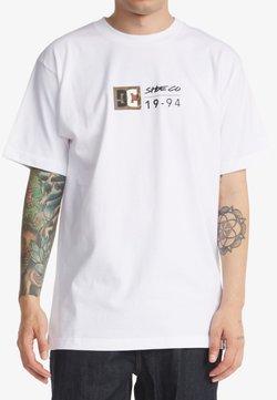 DC Shoes - SPLIT STAR - T-shirt print - white
