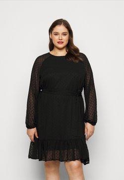 Vero Moda Curve - VMTHEA SHORT DRESS - Freizeitkleid - black