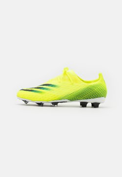 adidas Performance - X GHOSTED.2 FG - Moulded stud football boots - solar yellow/footwear white/royal blue