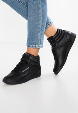 Reebok Classic - FREESTYLE HI LIGHT SOFT LEATHER SHOES - Sneaker high - black