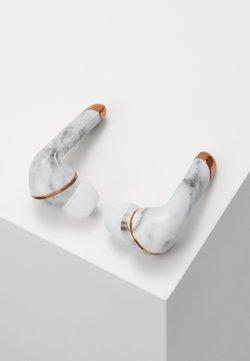 Happy Plugs - AIR 1 PLUS IN EAR UNISEX - Hörlurar - white marble