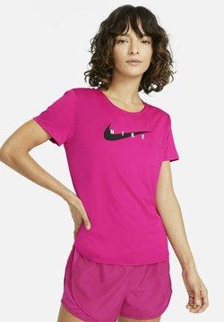 Nike Performance - RUN - T-Shirt print - fireberry