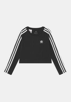adidas Originals - 3 STRIPES - Pitkähihainen paita - black/white