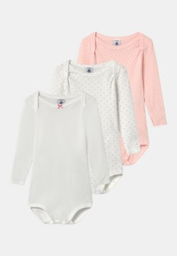 Petit Bateau - 3 PACK - Body - white/pink