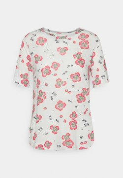 Marks & Spencer London - FLORAL TEE - T-Shirt print - offwhite