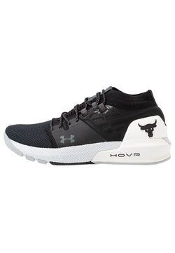 Under Armour - PROJECT ROCK 2 - Sports shoes - black/white