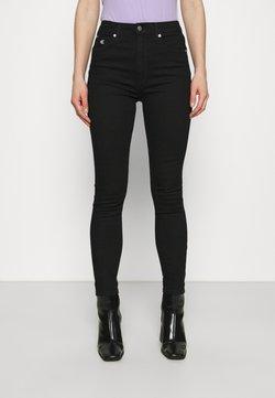 Calvin Klein Jeans - HIGH RISE ANKLE - Jeans Skinny Fit - denim black
