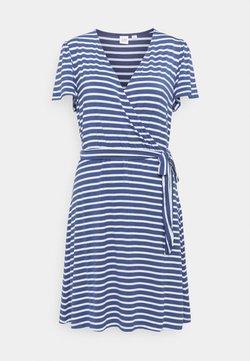 GAP - WRAP DRESS - Jerseykleid - blue combo