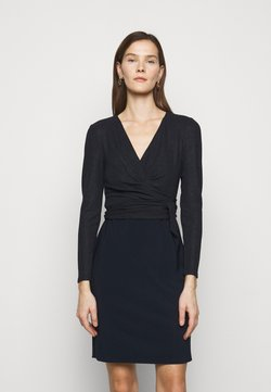 Lauren Ralph Lauren - BONDED DRESS COMBO - Vestido de tubo - lighthouse navy
