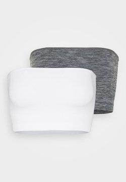 Even&Odd - 2 PACK - Débardeur - light grey/white