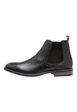 Next - BLACK LEATHER CHELSEA BOOTS - Stiefelette - black