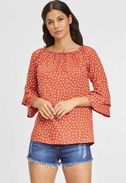 LASCANA - Bluse - rot-weiß-bedruckt