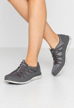 Skechers Wide Fit - GRATIS - Sneakers laag - charcoal mesh/gray