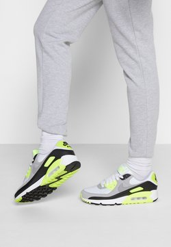 Nike Sportswear - AIR MAX 90 - Sneakers laag - white/particle grey/volt/black/light smoke grey