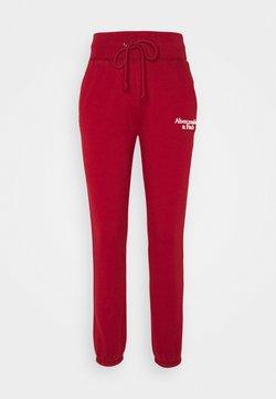 Abercrombie & Fitch - SCRIPT CLASSIC  - Jogginghose - red