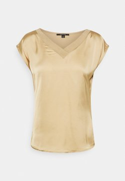 comma - KURZARM - T-shirt con stampa - beige