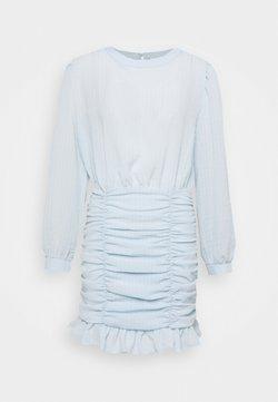 Nly by Nelly - RUCHE DRESS - Vestido de cóctel - dusty blue