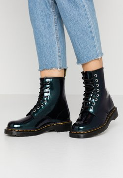 Dr. Martens - 1460 8 EYE BOOT - Schnürstiefelette - teal/pacific sparkle