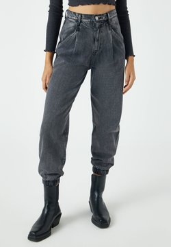 PULL&BEAR - Jeansy Relaxed Fit - mottled grey