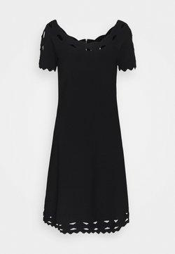 Milly - KYHL TWIST TRIM FLARE DRESS - Jumper dress - black