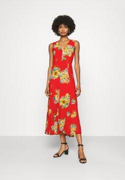 Lauren Ralph Lauren - NOREHAN SLEEVELESS CASUAL DRESS - Maxikleid - bright hibiscus/multi