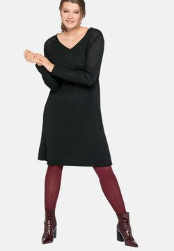 Sheego - Vestido de punto - schwarz
