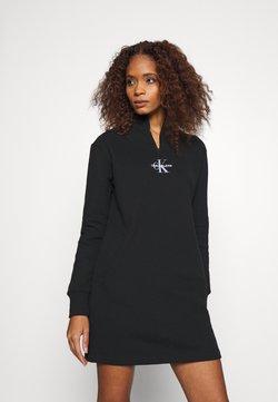 Calvin Klein Jeans - MOCKNECK ZIP WITH MONOGRAM - Vestido informal - black