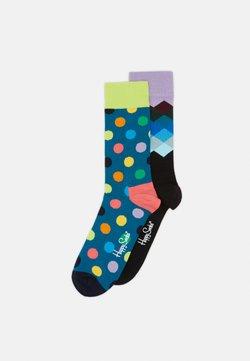Happy Socks - BIG DOT FADED DIAMOND 2 PACK - Chaussettes - blue/aqua