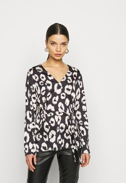 New Look Petite - MIA ANIMAL BELTED SHELL - Bluse - black