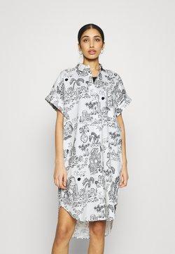 Monki - WANNA DRESS - Sukienka koszulowa - white light