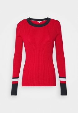 Tommy Hilfiger - WARM GLOBAL STRIPE - Neule - primary red