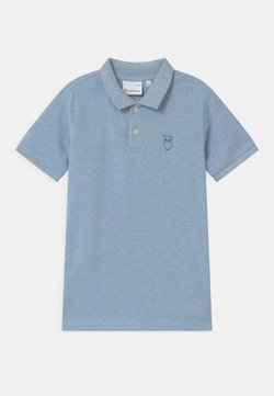 KnowledgeCotton Apparel - BASIL BASIC - Poloshirt - sky way melange
