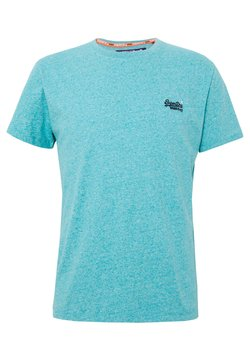 Superdry - VINTAGE EMBROIDERY TEE - T-shirt imprimé - turquoise grit