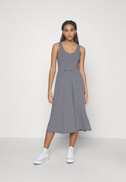 Object - OBJSTEPHANIE MIDI DRESS - Jerseykleid - white/sky captain