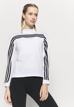 adidas Performance - Pitkähihainen paita - white/black