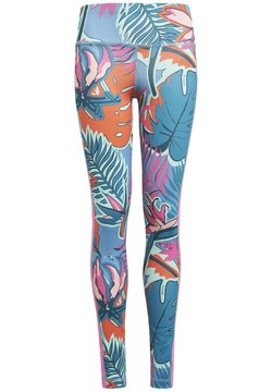 adidas Performance - AEROREADY ALLOVER PRINT LEGGINGS - Tights - white