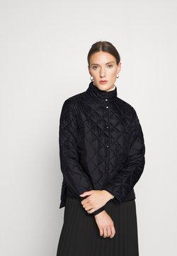 Selected Femme - SLFPLASTICCHANGE QUILTED JACKET - Overgangsjakker - black