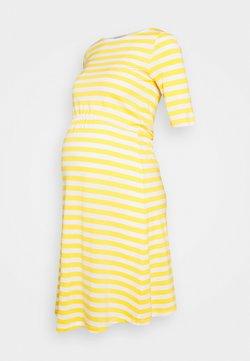 Anna Field MAMA - Jerseykleid - white/yellow