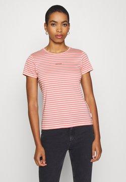 Calvin Klein - LOGO STRIPE  - T-Shirt print - white smoke/pink