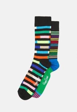 Happy Socks - HIGHWAY HALF STRIPE 2 PACK UNISEX - Socken - multi