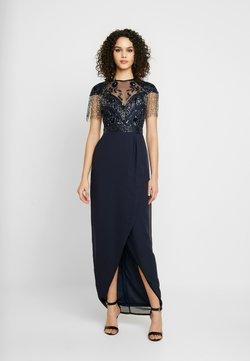 Lace & Beads - SAVANNA WRAP MAXI - Vestido de fiesta - navy